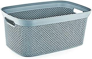 Hobby Life Laundry Basket Diamond Design 35 Litres (Cool Grey)