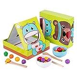 Ruby569y Juego de juguetes de juguete, palillos de aprendizaje de oso de diseño interactivo juguete educativo colorido juego para niños - 1