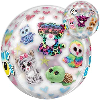 LOONBALLOON 16 Inch Orbz Beanie Boos Balloon Cartoons Movie Character Balloons for Kids Birthday and Theme Parties