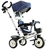 Best Tricycles - HOMCOM 4-in-1 Baby Tricycle Stroller Kids Folding Trike Review