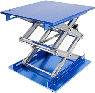 Wisamic 8x8 inch Lab Jack, Aluminium Laboratory Scissor Jack Lift Table, Oxide Lab Lifting Platform Stand