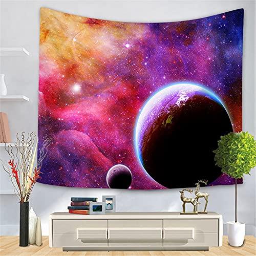 PYATLY tapizNebulosa, Tapiz Estrellado, Luna y habitación planetaria, decoración del hogar, Tela de Pared, Universo Espacial, decoración de Pared, Tela de Fondo