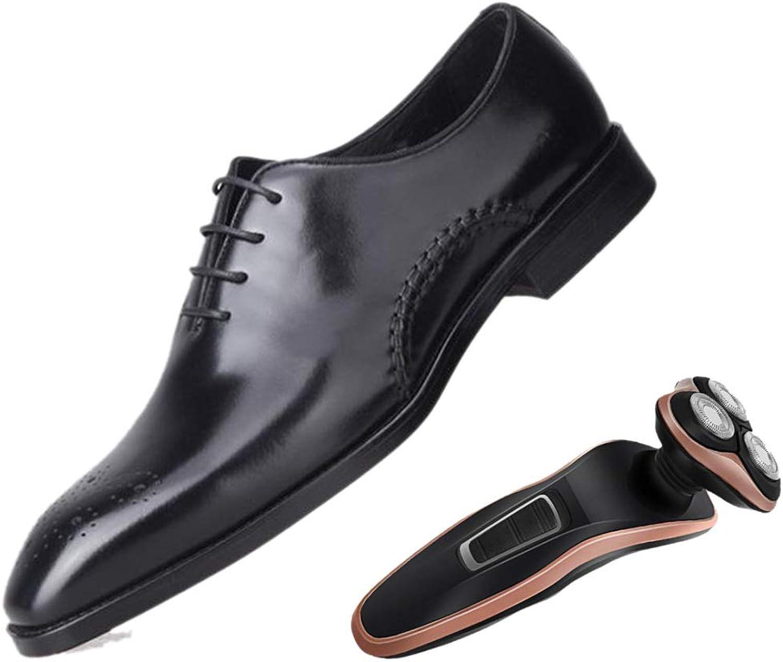 LZMEG Dressing Man's Points Andable Business skor bspringaaa svart Gentleman England