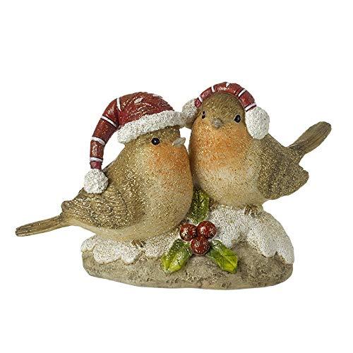 Heaven Sends Christmas Bird Couple On Stone Ornament
