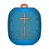 ultimate ears wonderboom altoparlante bluetooth portatile, impermeabile, suono a 360°, fino a 10 ore di autonomia, collega due altoparlanti per un suono potente, blue(subzero)