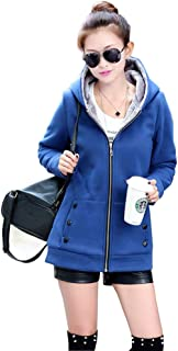 Missroo New Fall and Winter Clothes Thick Velvet Hoodies Sweatshirt Woman Coats