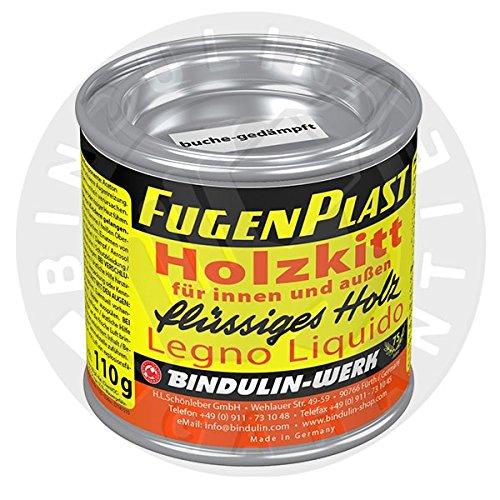 Wasserfester Holzkitt für den Innen- und Außenbereich. (teak 110 gr.)