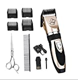 SUMCOO Pet Clipper,Rechargeable Cordless Cat And Dog Grooming Clippers With 4 Comb Attachment