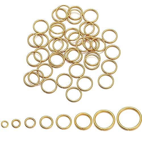 QW817 50-200pcs 4/5/6/8 / 10mm Show de acero inoxidable anillos de los anillos divididos conectores para BRICOLAJE Accesorios de fabricación de joyas Accesorios de joyería ( Color : 18K Gold 5mm )