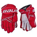 Bauer S18 NSX Senior Hockey Gloves (Red, 15')