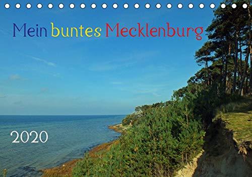 Mein buntes Mecklenburg (Tischkalender 2020 DIN A5 quer): Mein buntes Mecklenburg, die mecklenburger Landesfahne beinhaltet die Farben blau, gelb und ... (Monatskalender, 14 Seiten ) (CALVENDO Orte)