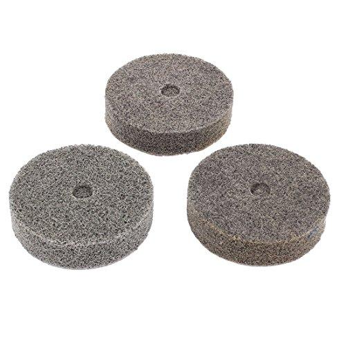 Herramienta de amoladora de amoladora de fibra de nailon de grano 180, color gris, 3 unidades