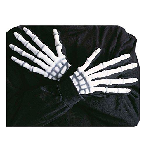 NET TOYS Gants Halloween Accessoires Squelette Mains Horreur Gants d'horreur Gants d'halloween Main d'halloween Mains Halloween