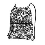 Mochila hawaiana con cordón tribal polinesio impermeable, bolsa de deporte para yoga, gimnasio, para niños, niñas, mujeres, hombres, adolescentes