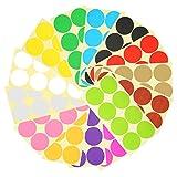 HAKOTOM 336pcs 50mm Pegatinas Circulares Redonda Etiquetas P