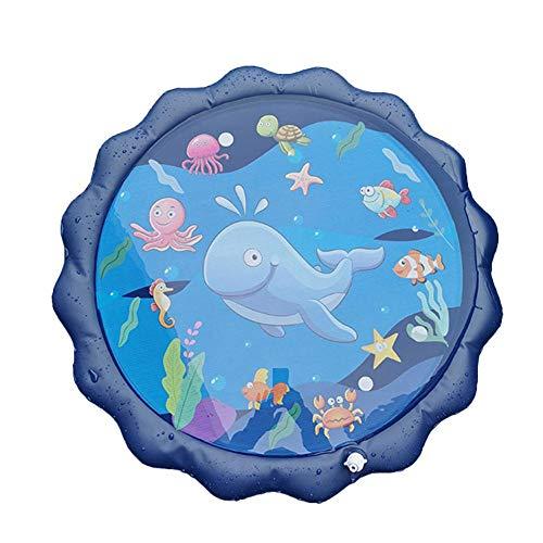 chlius Splash Pad, rociador de 170 cm para niños, alfombrilla de juego inflable al aire libre, juguetes de juego acuático, juguetes de verano para niños de más de 1 año