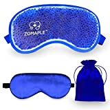 Cooling Eye Mask Cold Gel Compress Pack for Puffy Eyes, Migraine, Headache Relief, Pink Eye, Dark Circles, Dry Eye, Sinus & Allergy - Perfect Hot Cold Gel Sleep Mask - Adjustable & Reusable