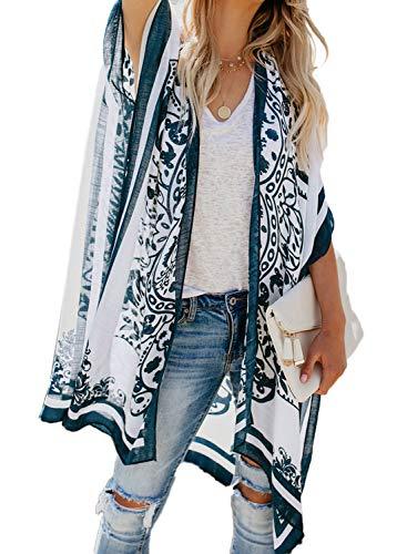 Aleumdr Cache-Maillots de Bain Femme en Mousseline Kimono Femme Gilet Imprimé Léopard Cover Up Sarong Large Couverture Maillot Taille Unique