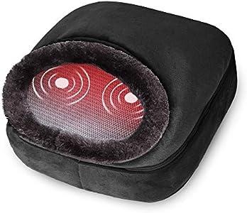 Snailax 3-en-1 masajeador de pies con calefacción y vibración, masaje de espalda con calor, almohadilla térmica y 5 modos de masaje, calentadores de pies, alivio del dolor SL522V-ES