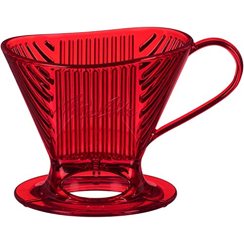 Melitta 64031 Signature Series Pour-Over Collection Coffee Maker, 1 Cup, Tritan Red