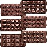 CNYMANY Lot de 6 moules à chocolat, en silicone souple et anti-adhésif, 6 formes