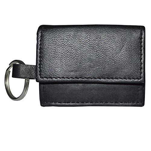 Kleine handliche Ledergeldbörse mit Schlüsselring Leder Portmonaie G-831