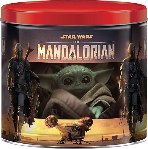 GiftPop Star Wars Mandalorian Assorted Holiday Popcorn, 22 Oz Tin, Caramel, Cheddar Cheese & Butter Flavored