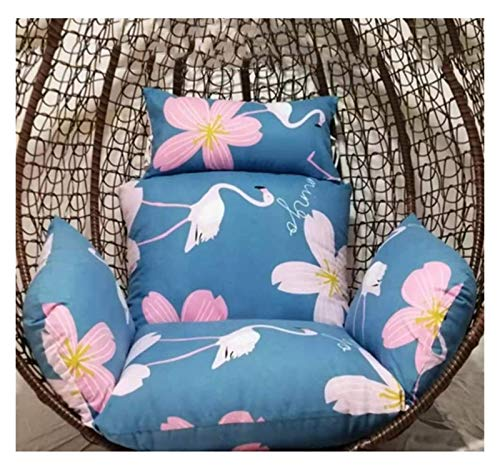 DYYD Egg Chair Cushion Thicken Wicker Rattan Hanging Basket Seat Cushion, Egg Nest Hanging Egg Hammock Chair Cushion, Patio Swing Chair Cushion (Color : 43)