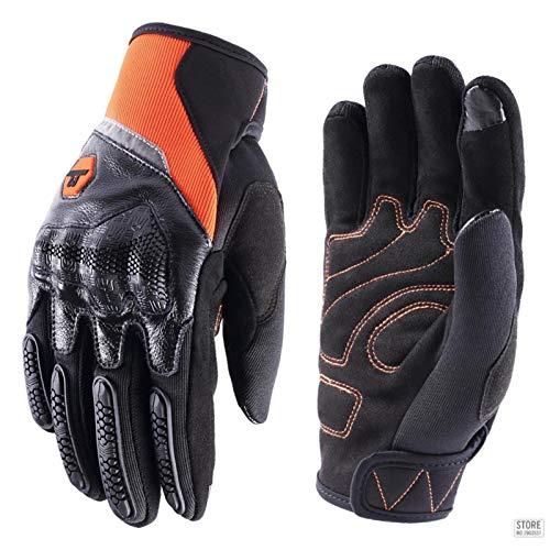 Guantes Antideslizantes Deportivos Guantes De Moto Hombres Mujeres Pantalla Táctil De Dedo Completo Moto Motocross Glove XL M30Orange Entrega Rápida Y Gratuita