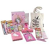 PACK MATERIAL ESCOLAR STARPLAST - Set material escritorio, lote productos escolar, colores pastel - Rosa