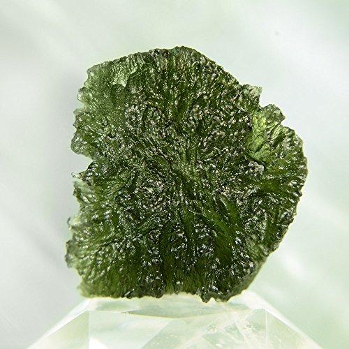 "Kala Emporium Moldavite Tektite from Czech Republic - 0.7"" - 8.5 Carats Natural Moldavite Rough Magical Stone Moldavite, Also Known as The 'Bouteille Stone'"