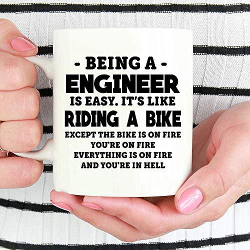 Mug-Engineer Mug, Being A Engineer is Easy Mug, Engineer Gifts, Gift Ideas for Engineer, Gift for Engineer Coffee Mug, Funny Engineer Coffee Mug, 11oz Funny Coffee Mug