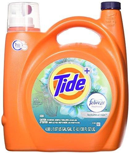 Tide Plus Febreze Fresh Botanical Rain He Turbo Clean Flüssigwaschmittel, Orange, Original, Regen, 450 ml