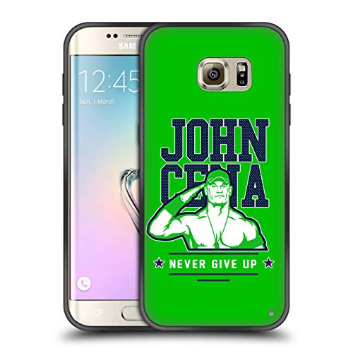 Head Case Designs Offizielle WWE John Cena Never Give Up 2 2018/19 Superstars 4 Enganliegende Hybride Glasierte Huelle kompatibel mit Samsung Galaxy S7 Edge