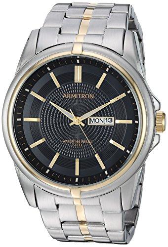 Armitron Men's 20/5281BKTT Day/Date Function Two-Tone Bracelet Watch
