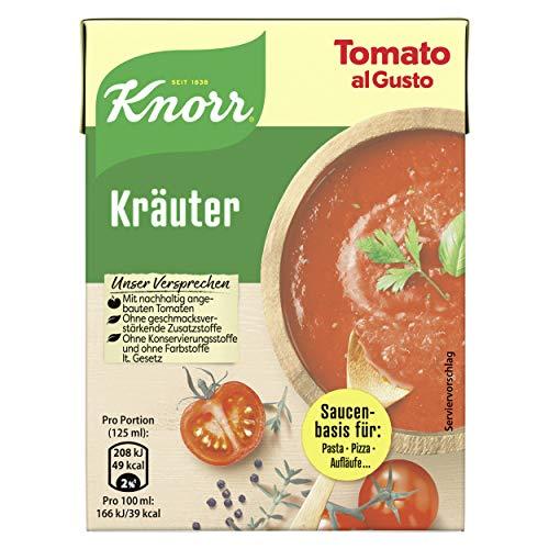 Knorr Tomato al Gusto Kräuter Soße, 1er-Pack (1 x 370 g)