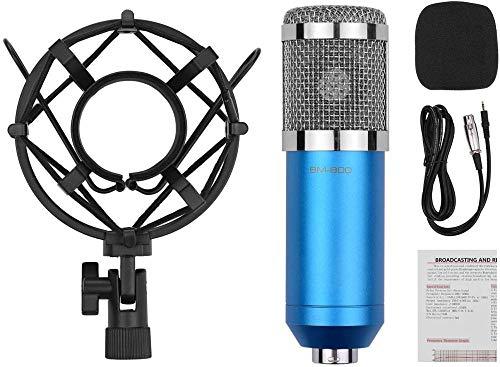 Cardioïde condensatormicrofoonset met audiokabel Metalen schokbestendige klem Hoge gevoeligheid Geluidsarme microfoon voor vocaal piano-instrument Live streaming