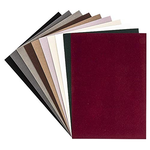 Ideen mit Herz Samt-Papier | Dekorpapier | Effekt-Karton Samt | 10 Bogen | DIN A4 | 200 g/qm (Farbsortierung 1)