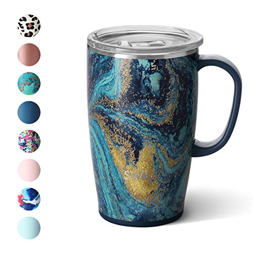 Swig Life 18oz Triple Insulated Travel Mug with Handle and Lid Dishwasher Safe Double Wall and Vacuum Sealed Stainless Steel Coffee Mug in our Starry Night Pattern Multiple Patterns Available