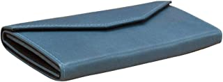 ili New York 7994 Structured Leather Eyeglass Case that Folds Flat When Not in Use