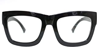 Vintage Inspired Geek Oversized Square Thick Horn Rimmed...