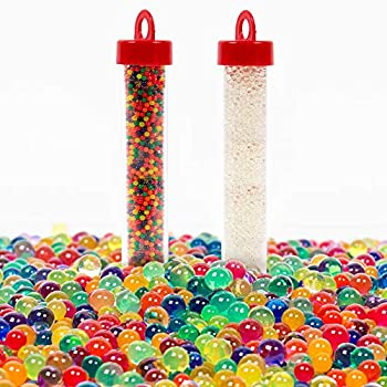 Expanding Water Beads Refill Pack of 2 by Horizon Group USA Rainbow Colors & Clear Orbeez Refill Multicolored