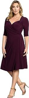 Kiyonna Women's Plus Size Sweetheart Knit Wrap Dress