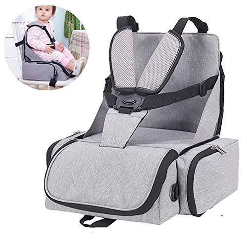 Rabbfay Faltbar Boostersitz, Mobiler Kindersitz Sitzerhöhung Und Reisesitz, Wickeltasche in Baby Reisesitz Verwandeln