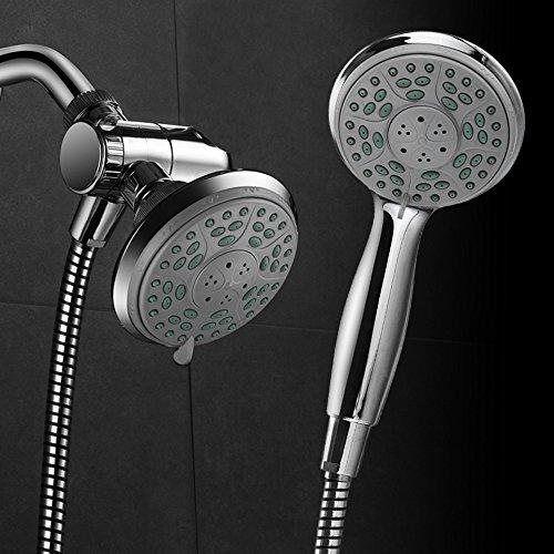 Aquadance by HotelSpa 24-Setting Slimline Showerhead and Hand Shower Combo