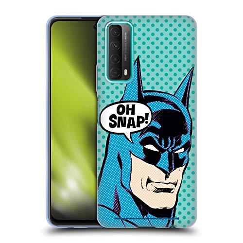 Head Case Designs sous Licence Officielle Batman DC Comics Pop Art Mode Vintage Coque en Gel Doux Compatible avec Huawei P Smart (2021)