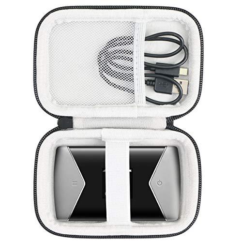 Khanka Hart Tasche für TP-Link M7450 M7650 mobiler WLAN Router WiFi Hotspot Schutzhülle Hülle. (Passt für M7450/ M7650, Schwarz)