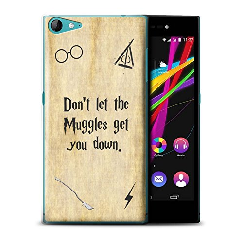 Hülle Für Wiko Highway Star 4G Schule der Magie Film Zitate Muggle Design Transparent Ultra Dünn Klar Hart Schutz Handyhülle Hülle