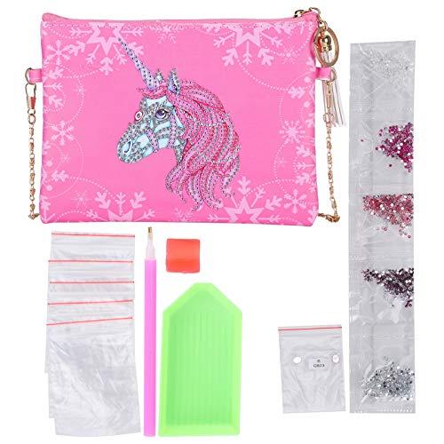 DIY diamant schilderij portemonnee, dames portemonnee portemonnee handtas, cosmetische opbergtas schooltas, kunst ambachtelijke make-up schoudertas rits voor kerstcadeau