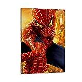 Ghychk Lienzo decorativo pintado para sofá de Spider-Man con diseño de cómic, diseño de superhéroe, para decoración de pared, listo para colgar, 50 x 75 cm